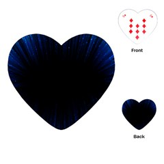 Colorful Light Ray Border Animation Loop Blue Motion Background Space Playing Cards (heart)  by Mariart