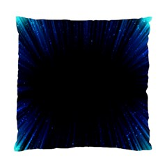 Colorful Light Ray Border Animation Loop Blue Motion Background Space Standard Cushion Case (one Side) by Mariart