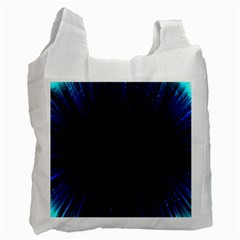 Colorful Light Ray Border Animation Loop Blue Motion Background Space Recycle Bag (one Side) by Mariart