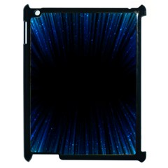 Colorful Light Ray Border Animation Loop Blue Motion Background Space Apple Ipad 2 Case (black) by Mariart