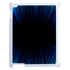 Colorful Light Ray Border Animation Loop Blue Motion Background Space Apple Ipad 2 Case (white) by Mariart
