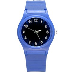 Colorful Light Ray Border Animation Loop Blue Motion Background Space Round Plastic Sport Watch (s) by Mariart