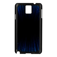 Colorful Light Ray Border Animation Loop Blue Motion Background Space Samsung Galaxy Note 3 N9005 Case (black)