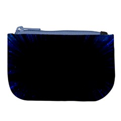 Colorful Light Ray Border Animation Loop Blue Motion Background Space Large Coin Purse