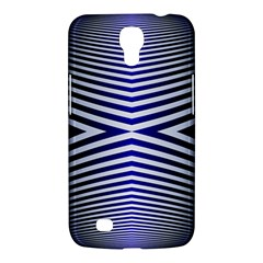 Blue Lines Iterative Art Wave Chevron Samsung Galaxy Mega 6 3  I9200 Hardshell Case by Mariart