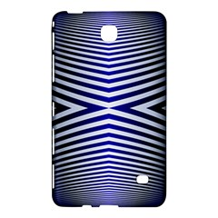 Blue Lines Iterative Art Wave Chevron Samsung Galaxy Tab 4 (7 ) Hardshell Case  by Mariart