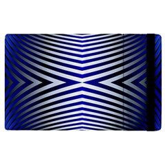 Blue Lines Iterative Art Wave Chevron Apple Ipad Pro 12 9   Flip Case by Mariart