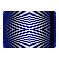 Blue Lines Iterative Art Wave Chevron Apple Ipad Pro 10 5   Flip Case by Mariart