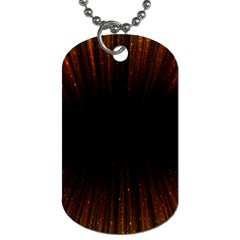 Colorful Light Ray Border Animation Loop Orange Motion Background Space Dog Tag (two Sides)