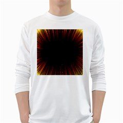 Colorful Light Ray Border Animation Loop Orange Motion Background Space White Long Sleeve T-shirts by Mariart