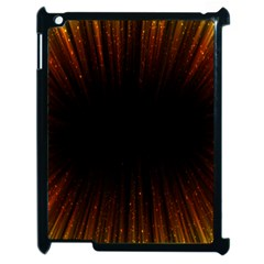 Colorful Light Ray Border Animation Loop Orange Motion Background Space Apple Ipad 2 Case (black) by Mariart