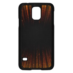 Colorful Light Ray Border Animation Loop Orange Motion Background Space Samsung Galaxy S5 Case (black) by Mariart