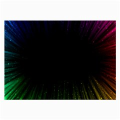 Colorful Light Ray Border Animation Loop Rainbow Motion Background Space Large Glasses Cloth (2 Side)