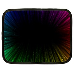 Colorful Light Ray Border Animation Loop Rainbow Motion Background Space Netbook Case (large) by Mariart