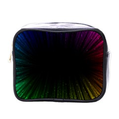 Colorful Light Ray Border Animation Loop Rainbow Motion Background Space Mini Toiletries Bags by Mariart