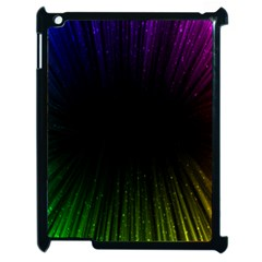 Colorful Light Ray Border Animation Loop Rainbow Motion Background Space Apple Ipad 2 Case (black) by Mariart