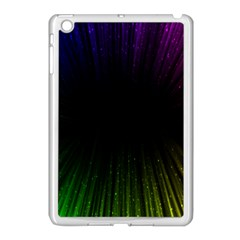 Colorful Light Ray Border Animation Loop Rainbow Motion Background Space Apple Ipad Mini Case (white) by Mariart