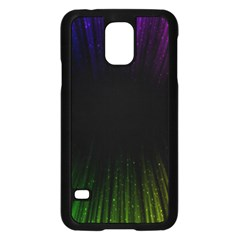 Colorful Light Ray Border Animation Loop Rainbow Motion Background Space Samsung Galaxy S5 Case (black)