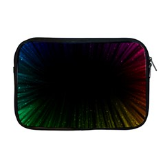 Colorful Light Ray Border Animation Loop Rainbow Motion Background Space Apple Macbook Pro 17  Zipper Case
