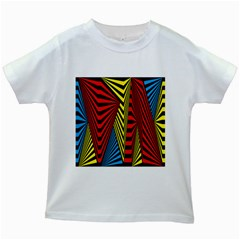 Door Pattern Line Abstract Illustration Waves Wave Chevron Red Blue Yellow Black Kids White T-shirts by Mariart