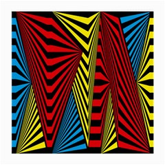 Door Pattern Line Abstract Illustration Waves Wave Chevron Red Blue Yellow Black Medium Glasses Cloth by Mariart