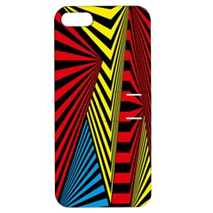 Door Pattern Line Abstract Illustration Waves Wave Chevron Red Blue Yellow Black Apple Iphone 5 Hardshell Case With Stand by Mariart