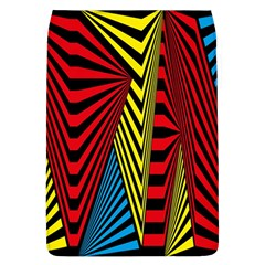Door Pattern Line Abstract Illustration Waves Wave Chevron Red Blue Yellow Black Flap Covers (l)