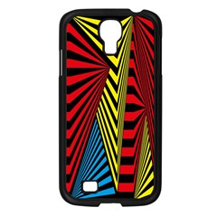 Door Pattern Line Abstract Illustration Waves Wave Chevron Red Blue Yellow Black Samsung Galaxy S4 I9500/ I9505 Case (black) by Mariart
