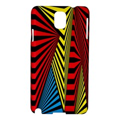 Door Pattern Line Abstract Illustration Waves Wave Chevron Red Blue Yellow Black Samsung Galaxy Note 3 N9005 Hardshell Case by Mariart