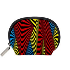 Door Pattern Line Abstract Illustration Waves Wave Chevron Red Blue Yellow Black Accessory Pouches (small)  by Mariart