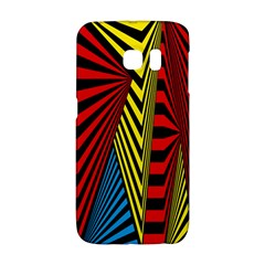 Door Pattern Line Abstract Illustration Waves Wave Chevron Red Blue Yellow Black Galaxy S6 Edge by Mariart