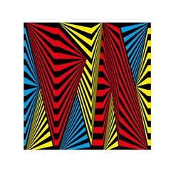 Door Pattern Line Abstract Illustration Waves Wave Chevron Red Blue Yellow Black Small Satin Scarf (square) by Mariart