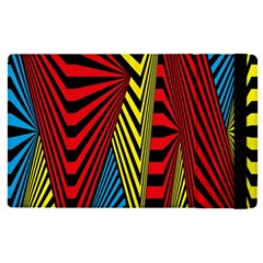 Door Pattern Line Abstract Illustration Waves Wave Chevron Red Blue Yellow Black Apple Ipad Pro 9 7   Flip Case by Mariart