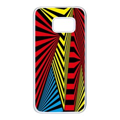 Door Pattern Line Abstract Illustration Waves Wave Chevron Red Blue Yellow Black Samsung Galaxy S7 White Seamless Case by Mariart