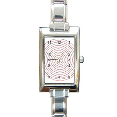 Double Line Spiral Spines Red Black Circle Rectangle Italian Charm Watch by Mariart