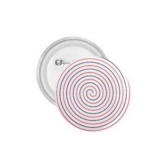 Double Line Spiral Spines Red Black Circle 1 75  Buttons