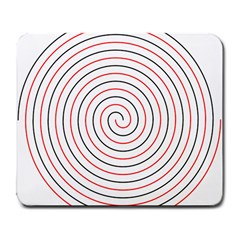 Double Line Spiral Spines Red Black Circle Large Mousepads by Mariart
