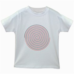 Double Line Spiral Spines Red Black Circle Kids White T Shirts by Mariart