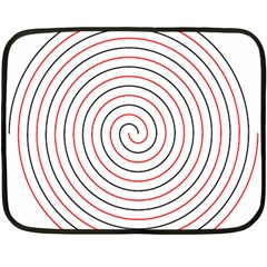 Double Line Spiral Spines Red Black Circle Double Sided Fleece Blanket (mini)  by Mariart
