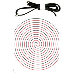 Double Line Spiral Spines Red Black Circle Shoulder Sling Bags by Mariart