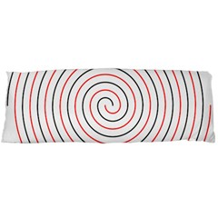 Double Line Spiral Spines Red Black Circle Body Pillow Case Dakimakura (two Sides) by Mariart