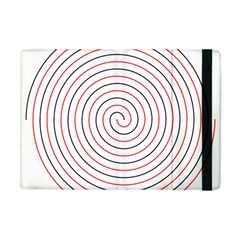 Double Line Spiral Spines Red Black Circle Apple Ipad Mini Flip Case by Mariart