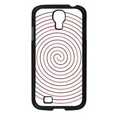 Double Line Spiral Spines Red Black Circle Samsung Galaxy S4 I9500/ I9505 Case (black) by Mariart