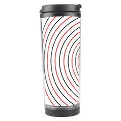 Double Line Spiral Spines Red Black Circle Travel Tumbler by Mariart
