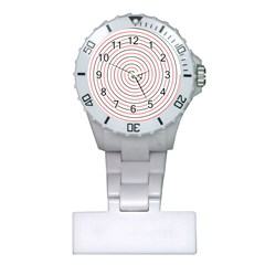 Double Line Spiral Spines Red Black Circle Plastic Nurses Watch by Mariart