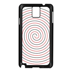 Double Line Spiral Spines Red Black Circle Samsung Galaxy Note 3 N9005 Case (black) by Mariart