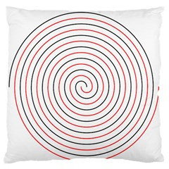 Double Line Spiral Spines Red Black Circle Standard Flano Cushion Case (two Sides)