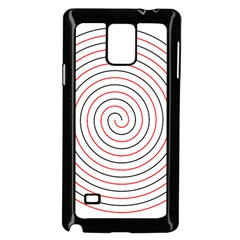 Double Line Spiral Spines Red Black Circle Samsung Galaxy Note 4 Case (black) by Mariart