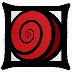 Double Spiral Thick Lines Black Red Throw Pillow Case (black) by Mariart