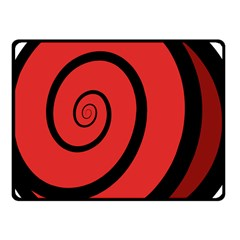 Double Spiral Thick Lines Black Red Fleece Blanket (small) by Mariart